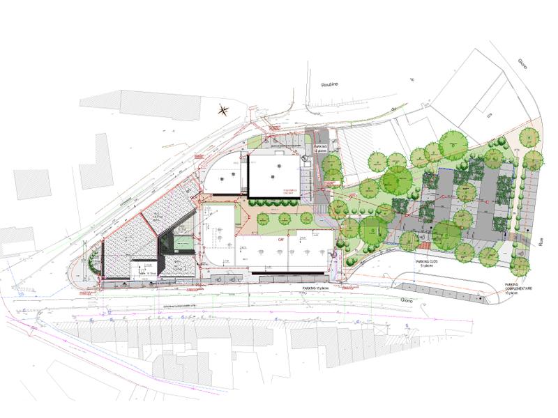 Pole Emploi Arles – Plan de masse CCAS