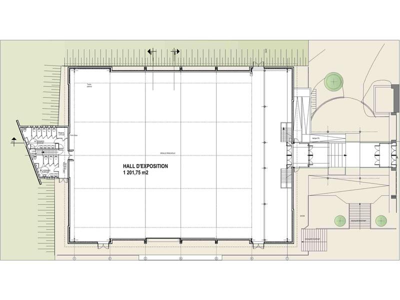 CCI Arles Hall exposition plan rdc
