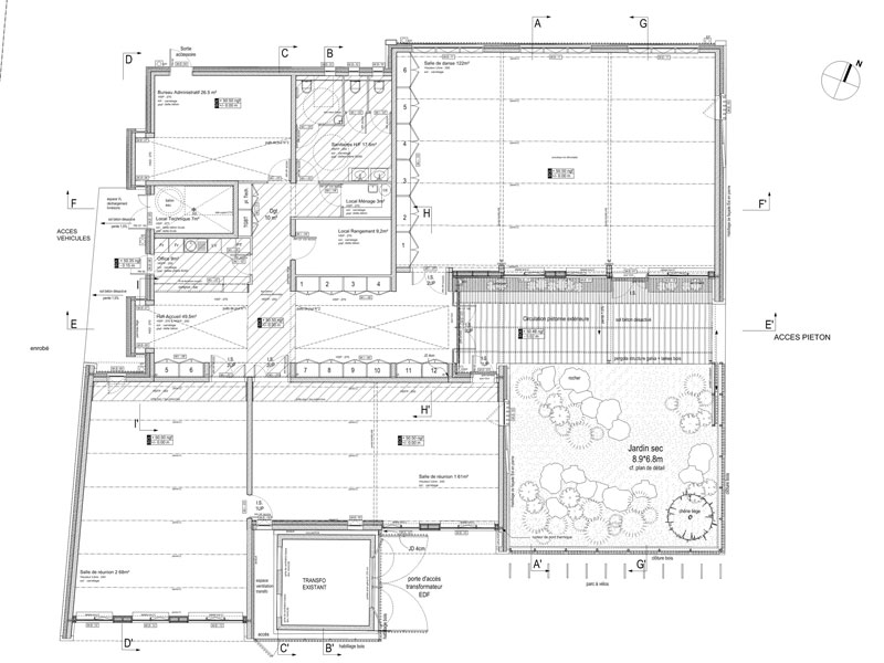 Maison Association Fontvieille - plan rdc