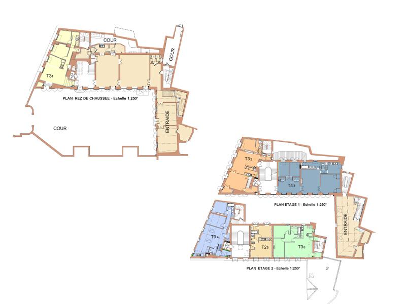 hotel de chartrouse - plan de masse