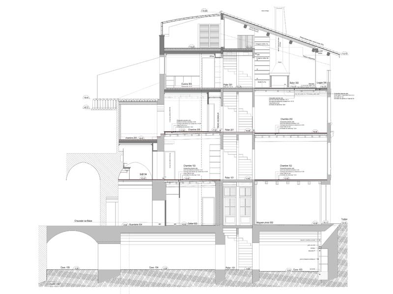 Maison Balze - plan de masse