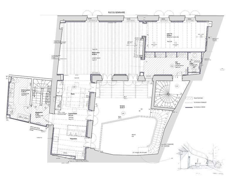 Maison du Séminaire - plan de masse