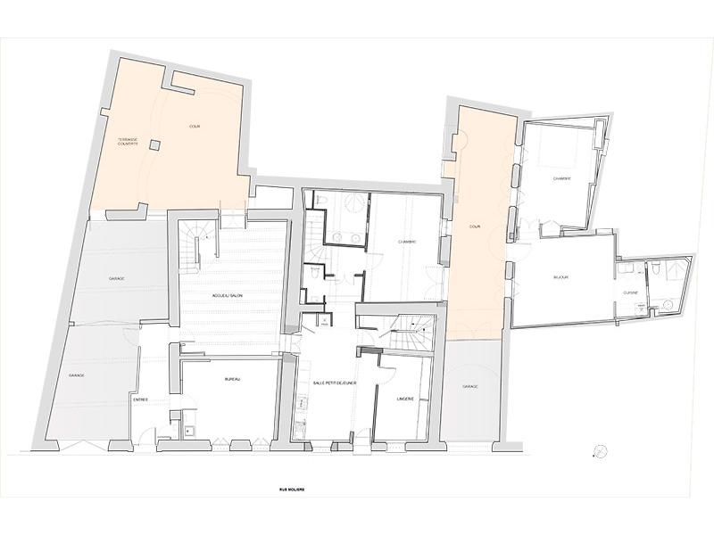 La Maison Molière - plan rdc