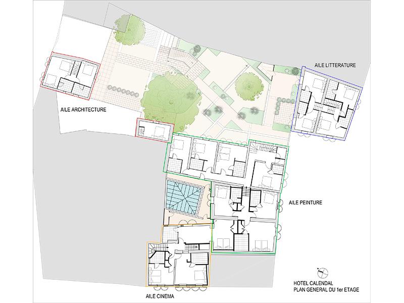 Hotel Calendal Arles - plan site