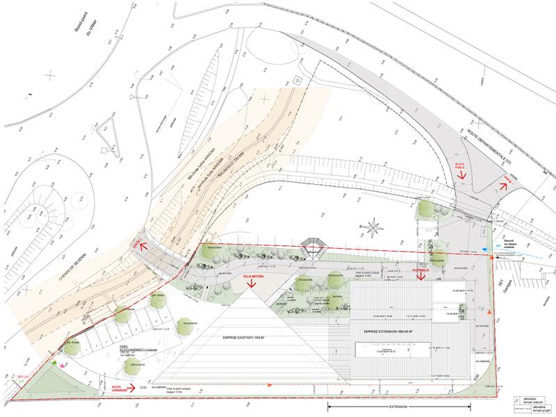 plan masse villa natura