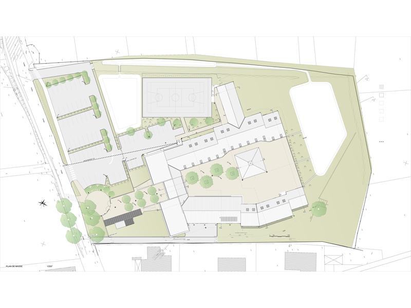 Ecole Fontvieille plan