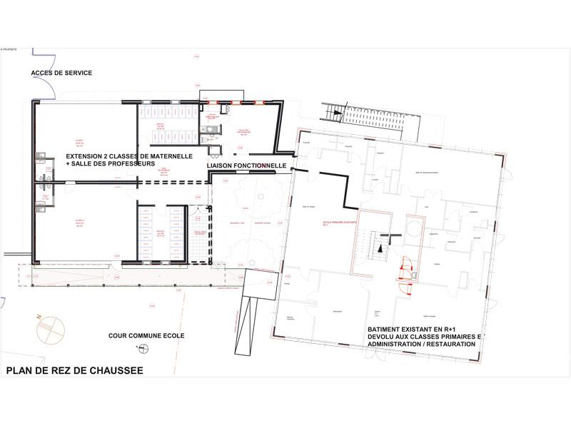 Ecole St Etienne Arles - plan masse