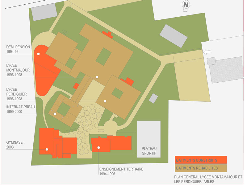 Lycée Montmajour - Plan général